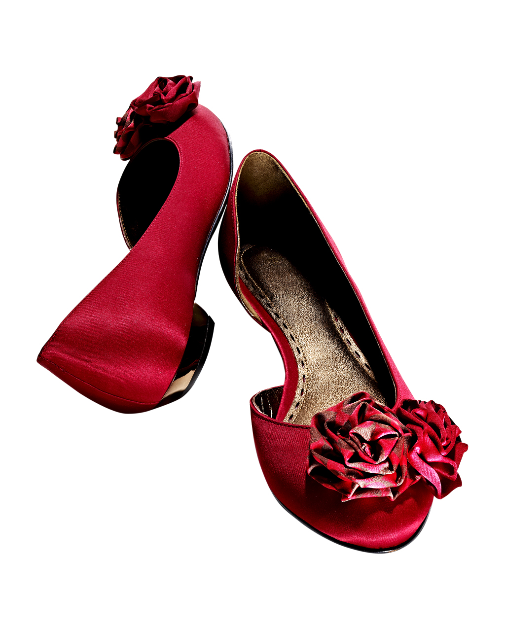 Flats in festive colors with rosettes tj maxx and for Ballet shoes christmas decoration
