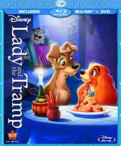 The Lady and The Tramp Diamond Edition Blu-Ray/DVD