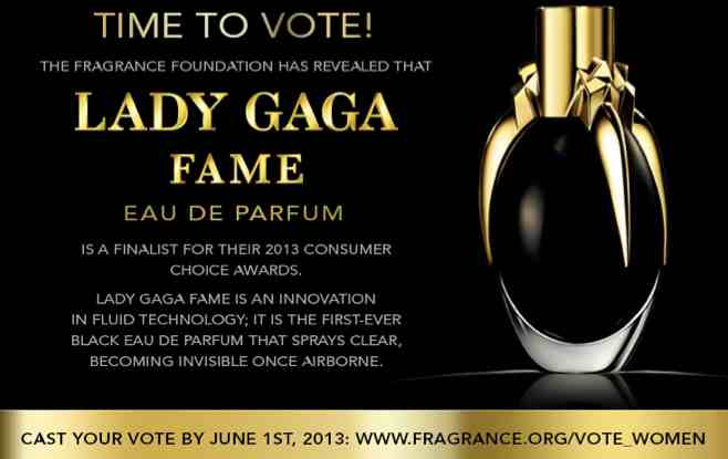Time to Vote for Lady Gaga Fame Perfume (Closed