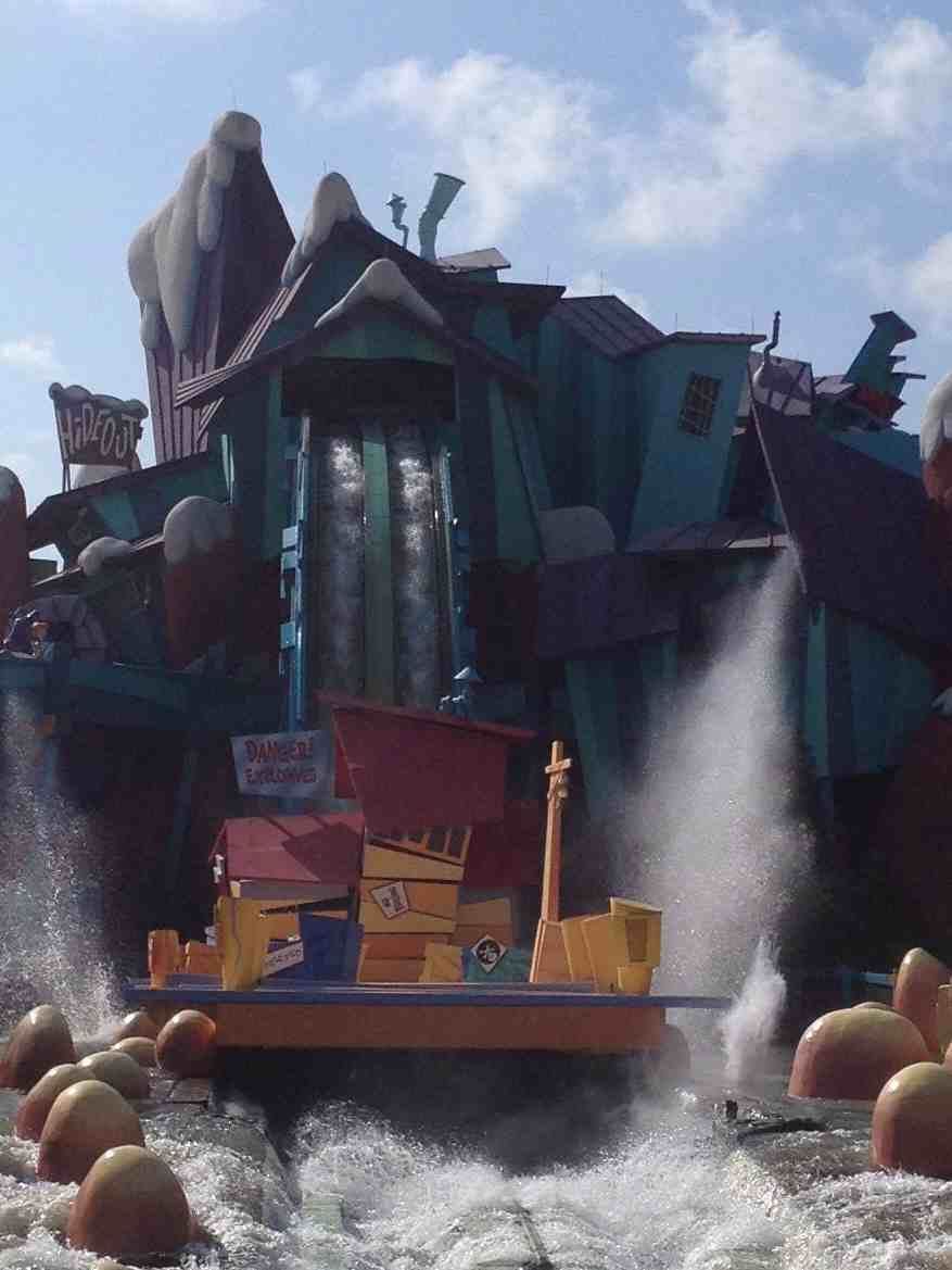 Dudley Do Right Ripsaw Falls Universal Orlando, Water Rides at Universal Studios