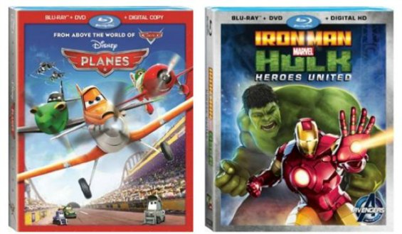Disney Planes Blu ray,  Marvel's Ironman Hulk Blu Ray