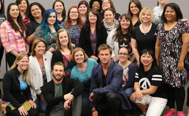 Having a Laugh with Chris Squared – Chris Evans And Chris Hemsworth Interview #AvengersEvent #AvengersAgeofUltron