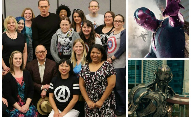 @Marvel Avengers: Age of Ultron Paul Bettany and  James Spader Interview #AvengersEvent #AgeofUltron