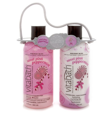 Sweet Pink Peppermint Body Wash and Lotion
