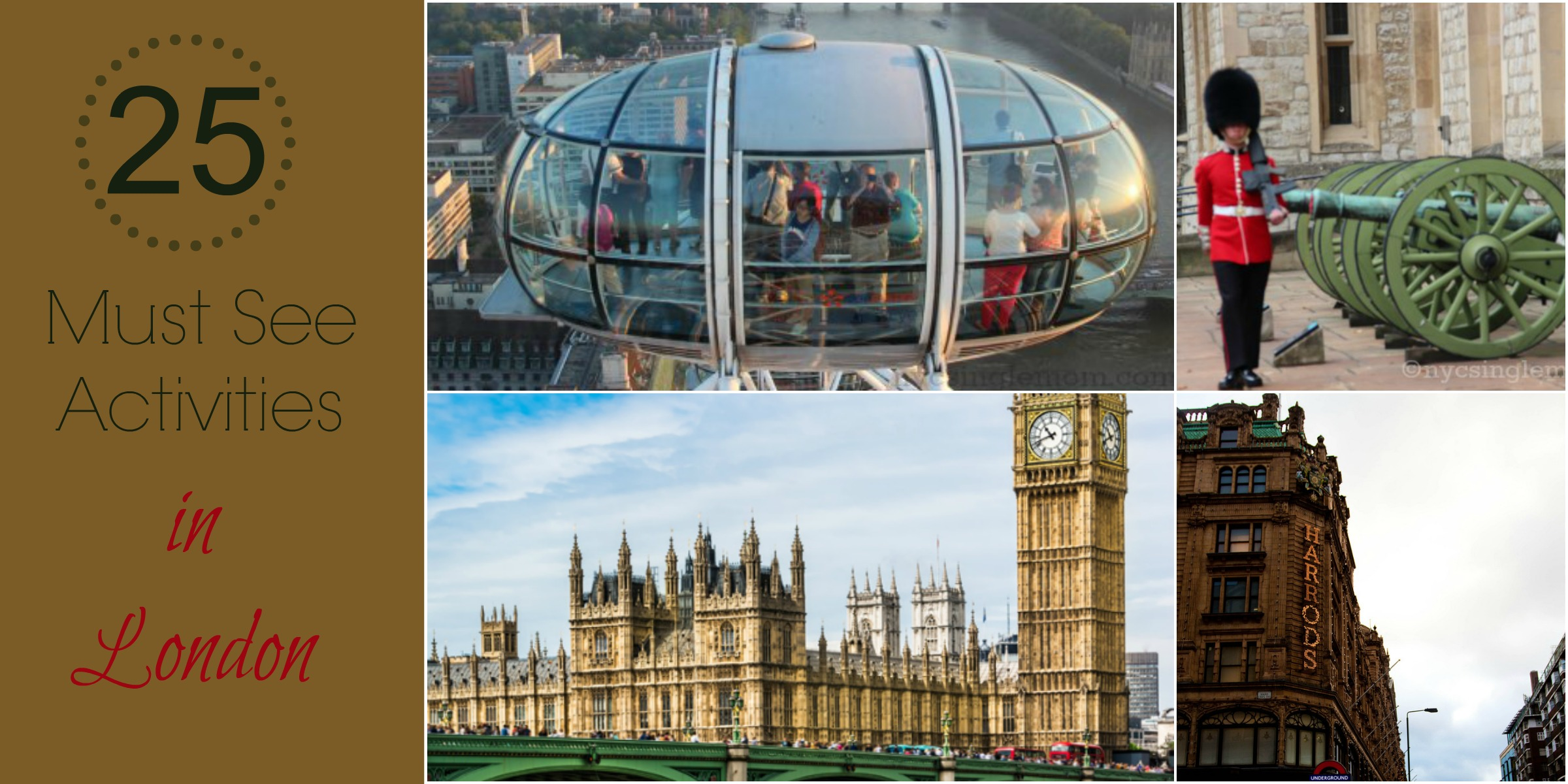 25 Must See Activities in London @visitlondon