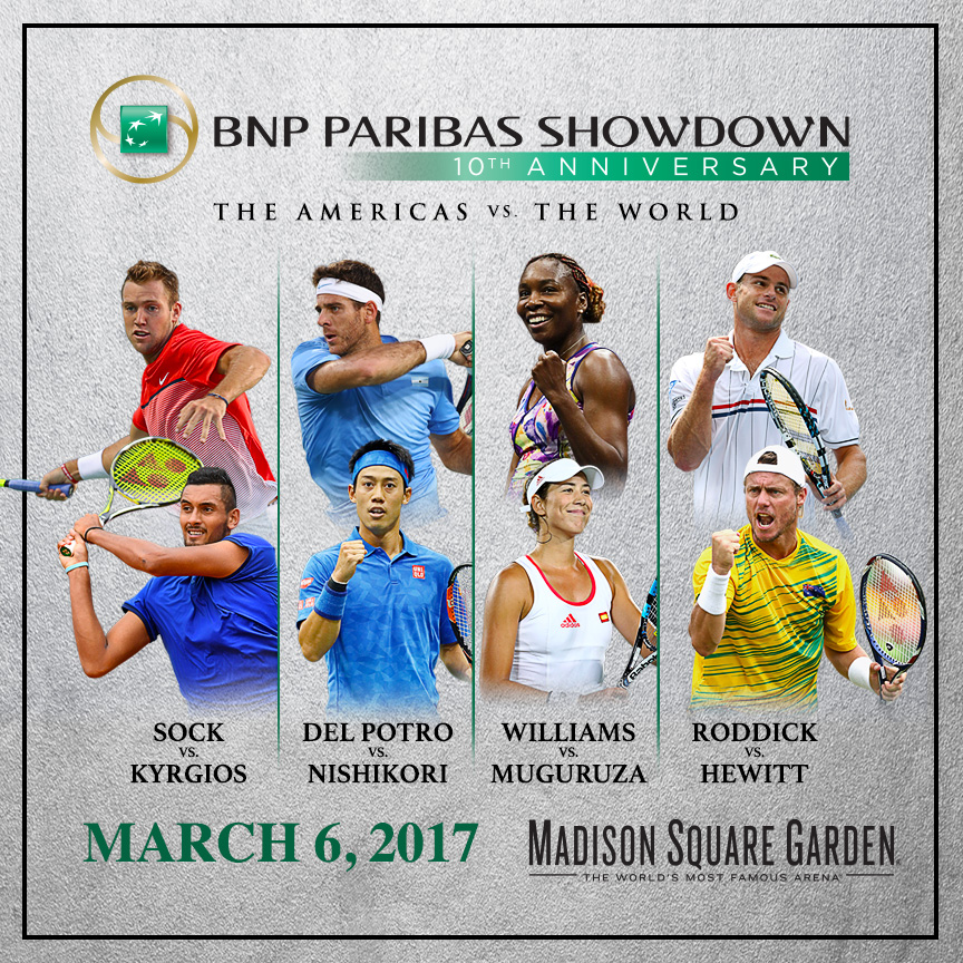 discount ticket offer bnp paribas showdown tennis with tennis greats venus williams and andy