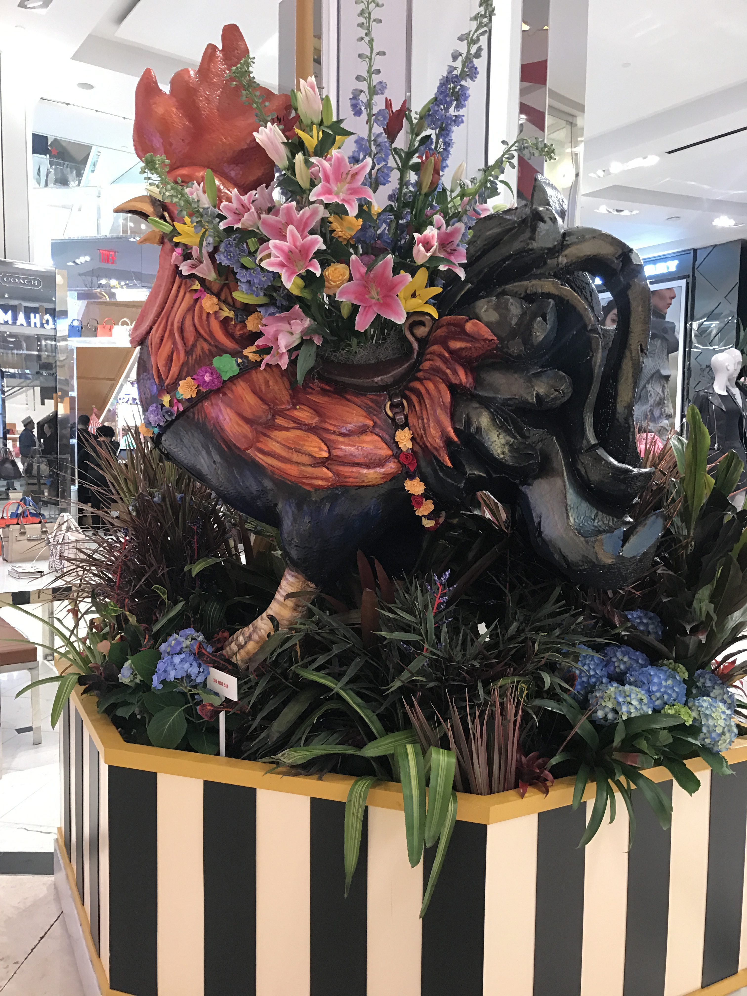 Macys Flower Show Rooster NYC Single Mom