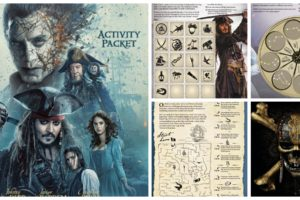 Pirates of the Caribbean : Dead Men Tell No Tales Activity Sheets #PiratesLife #PiratesOfTheCaribbean