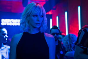 Charlize Theron Crashes Into Theatre in her Latest Atomic Blonde