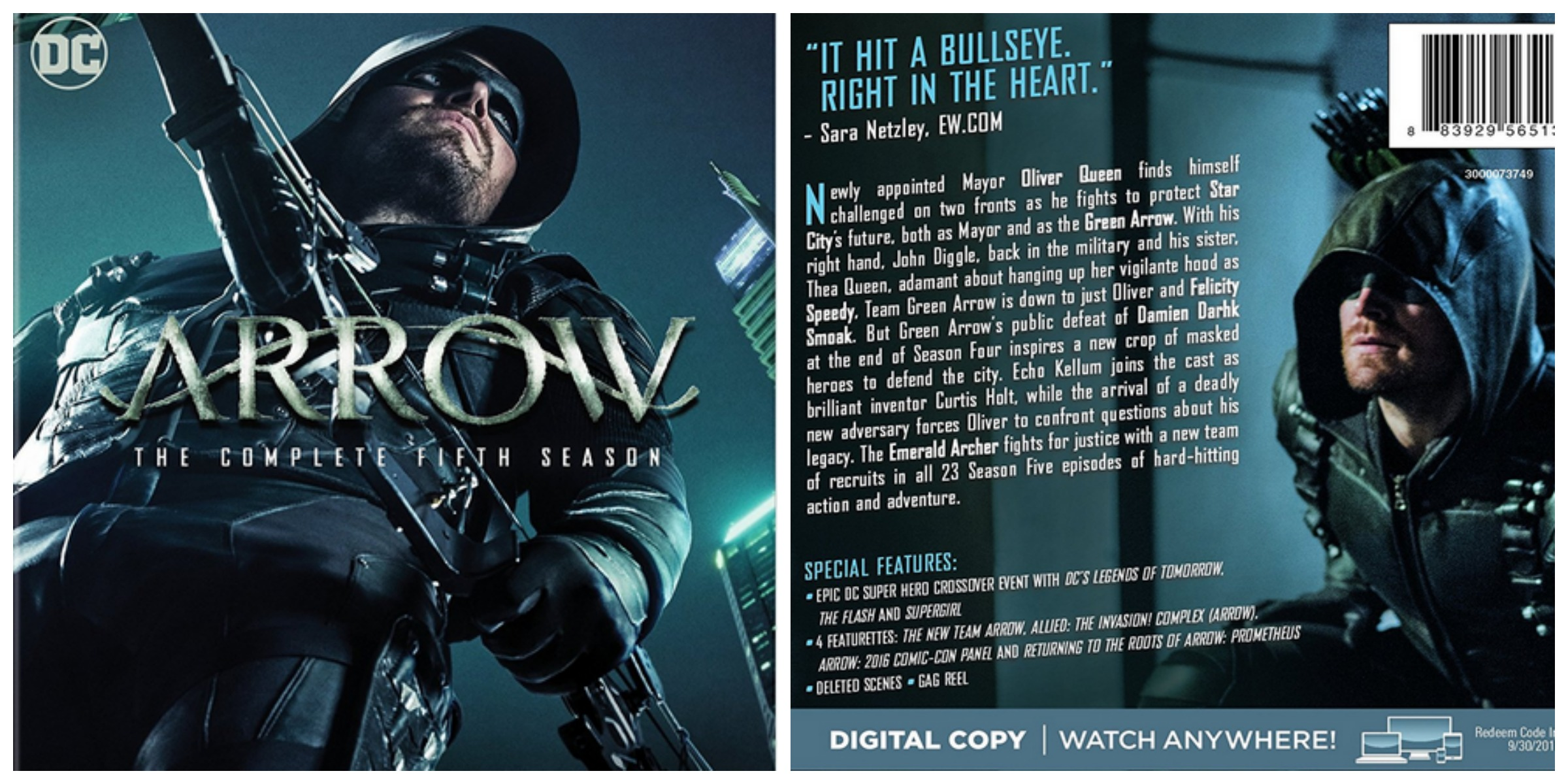 Arrow: The Complete Fifth Season Available on  Blu-ray and DVD September 19 @CW_Arrow #ad