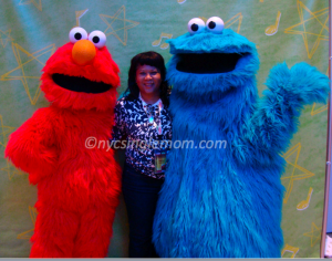 Elmo, NYC Single Mom and Cookie Monster