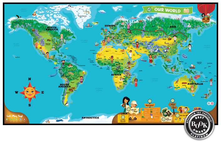 Leapfrog tag reading system interactive world map giveaway nyc one gumiabroncs Gallery