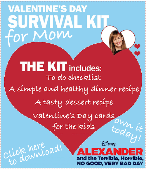 Alexander and the Terrible, Horrible, No Good, Very Bad Day Valentine's Day Survival Kit