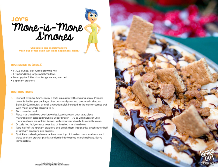 Disney/Pixar  INSIDE OUT Recipes inspired by Each Emotion #InsideOut @PixarInsideOut