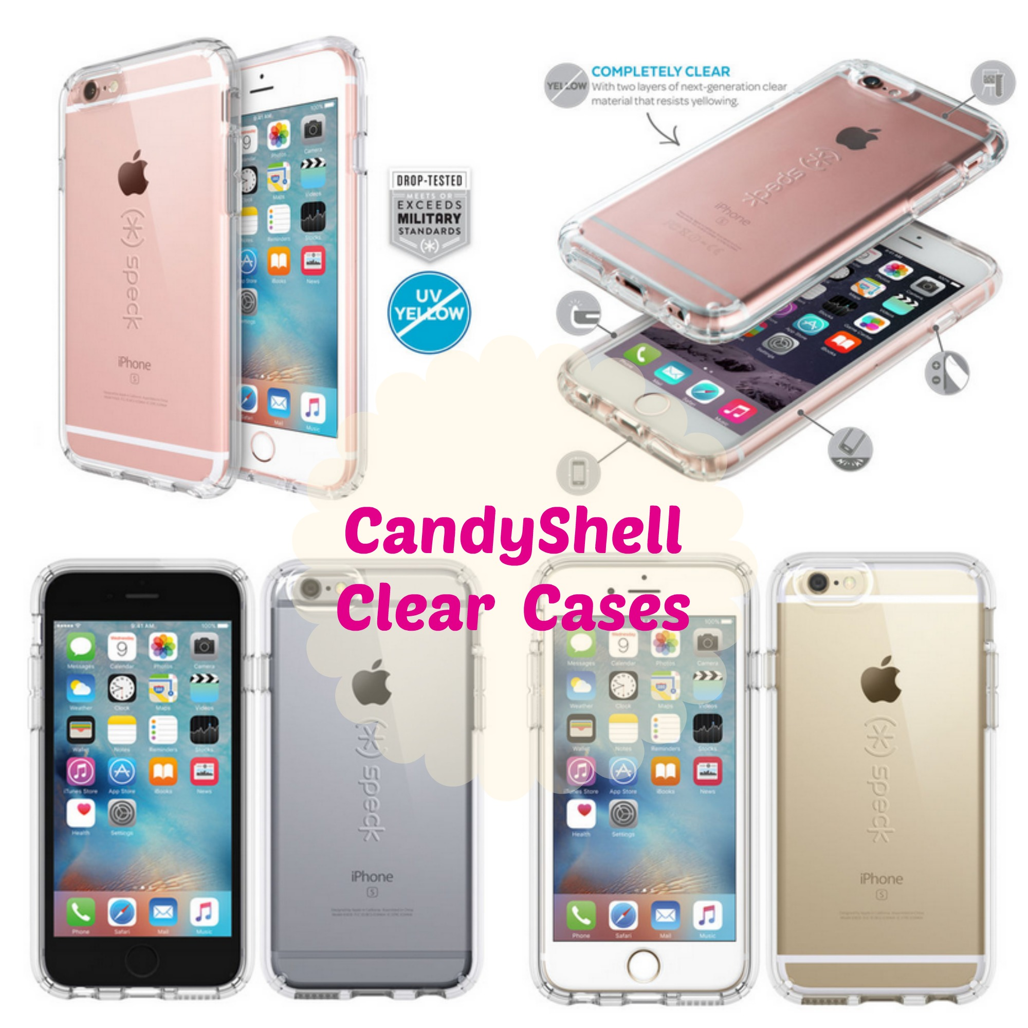Sweepstake iphone 8 plus case clear speck