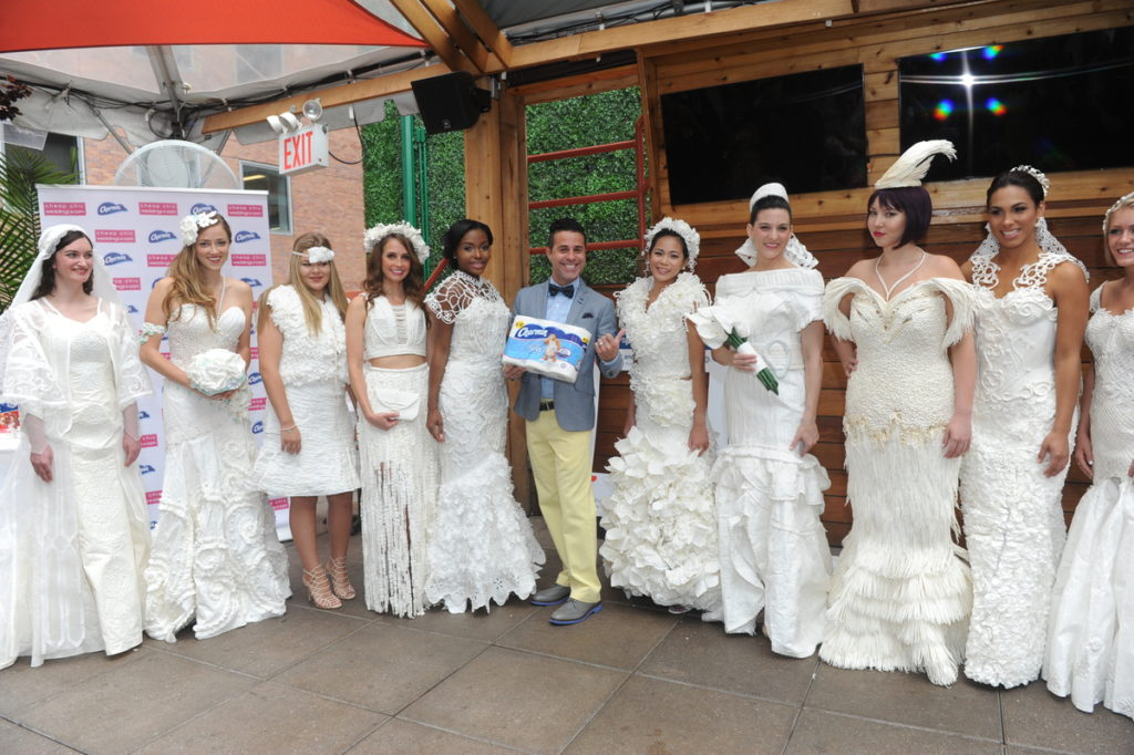 Toilet paper wedding dress contest pictures