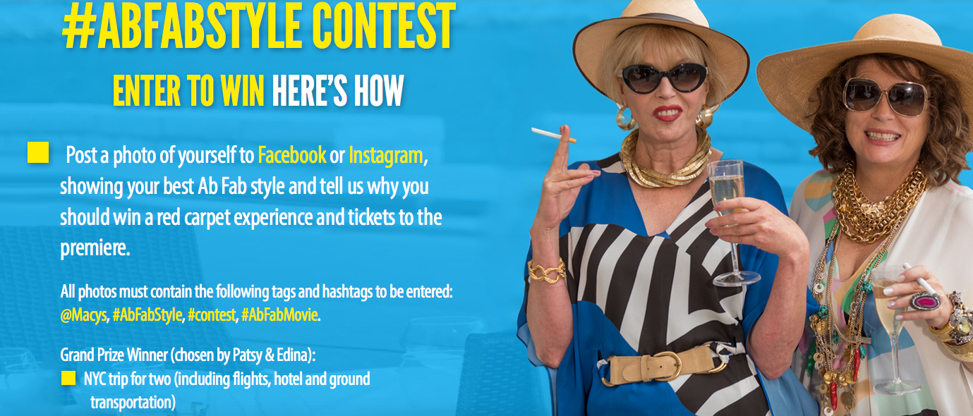 Enter to win an Absolutely Fabulous: The Movie'Prize Pack