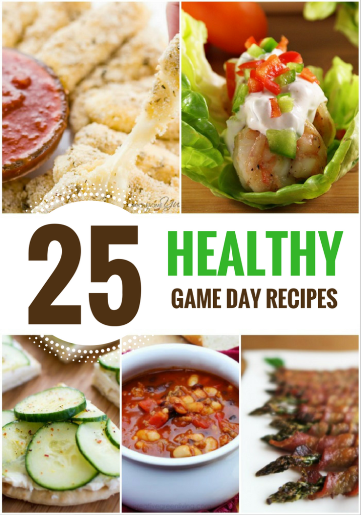 25 Healthy Game Day Recipes Collage