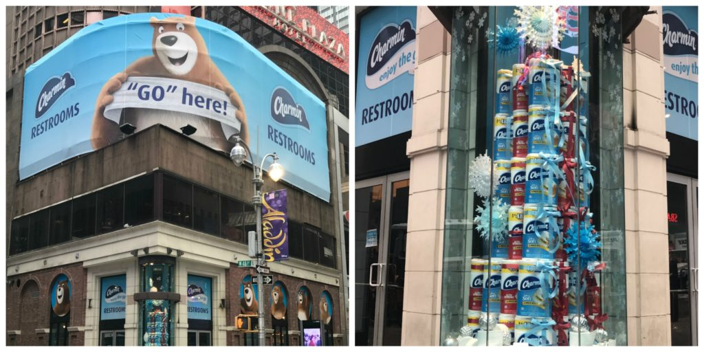 Visiting Times Square This Holiday Season, Charmin Restrooms ensures an unforgettable experience  @Charmin #EnjoyTheGo #Ad!