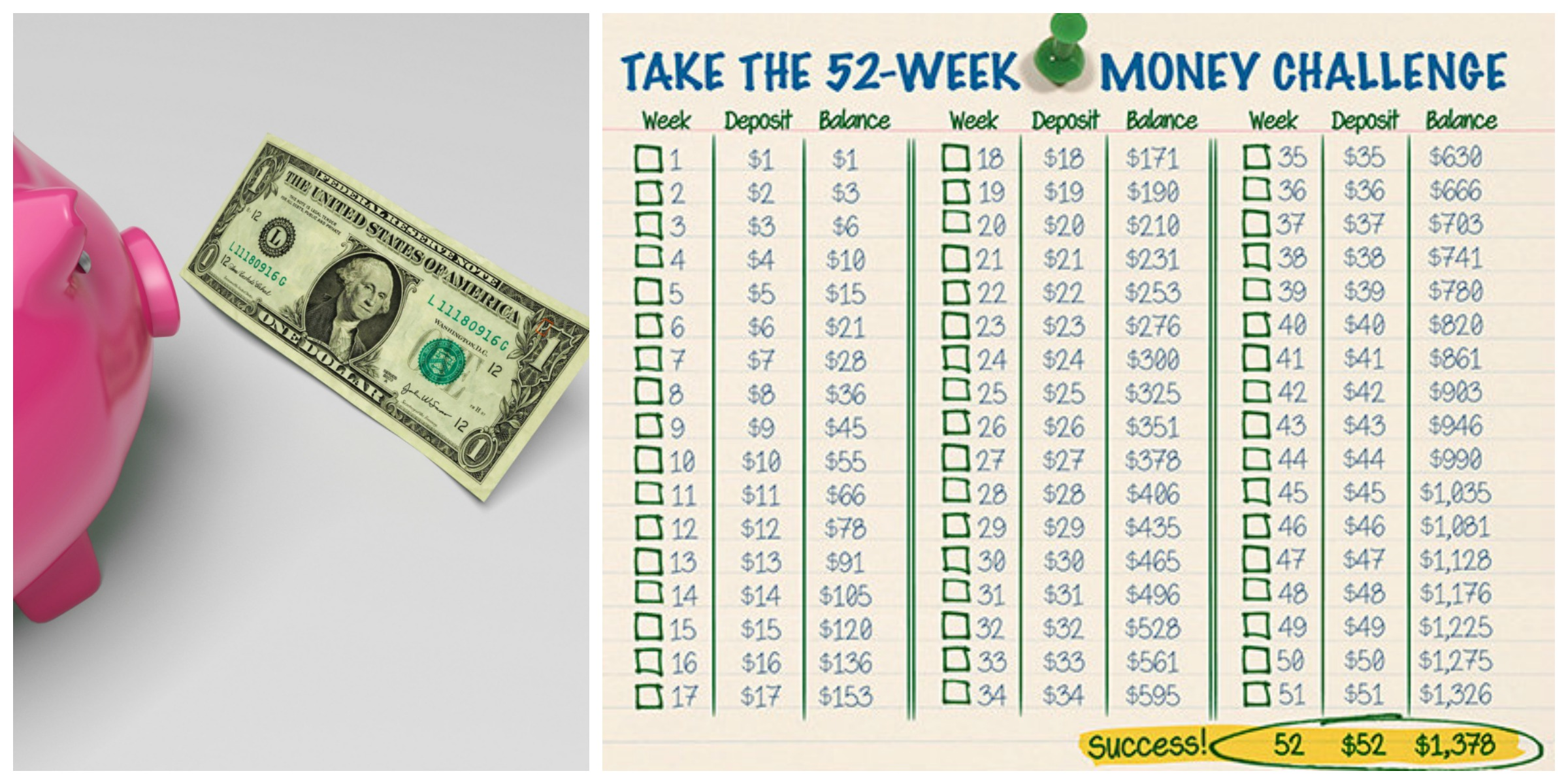 a simple way to save money with the 52 week money