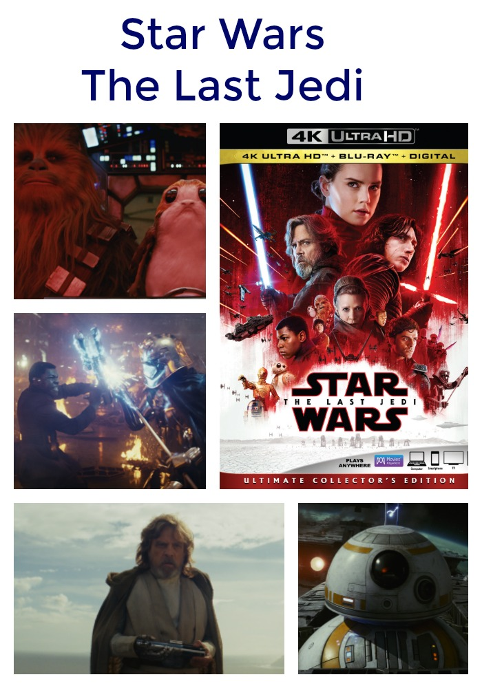 Star wars the last jedi out on 4k ultra hd and blu ray on for Star wars museum california